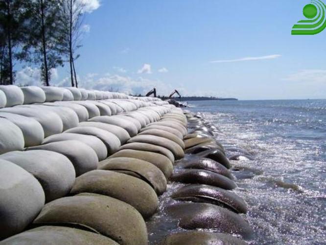 ژئوبگ, geobag, ساحل, تقویت و تسلیح سواحل